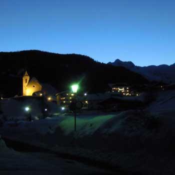Am Bichl in einer Winternacht